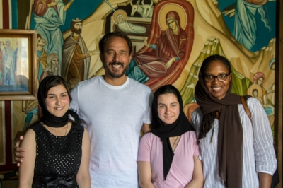 Visiting a church orphanage and discussing a new project, Ninotsminda, Georgia.