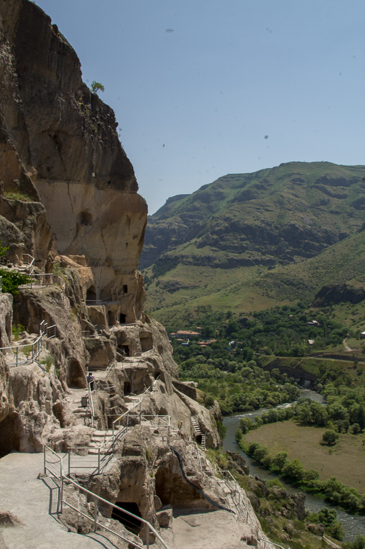 Vardzia - an ancient fortress city built out of caves.
