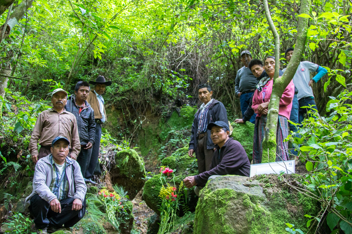 The Committee responsible, near one of the 3 natural springs to be used for the project.