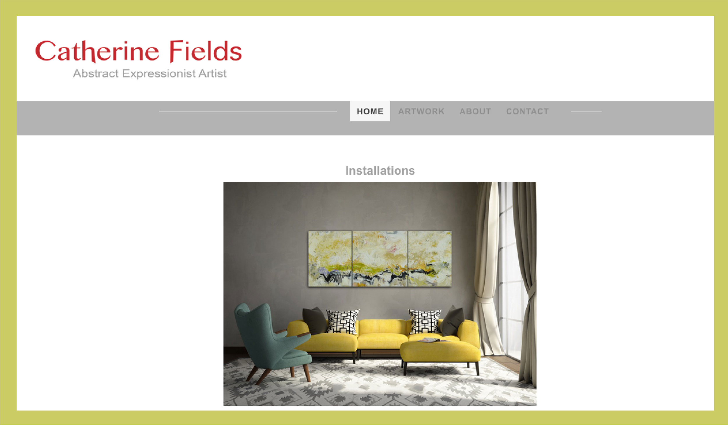 Website design  - Catherine Fields' art website