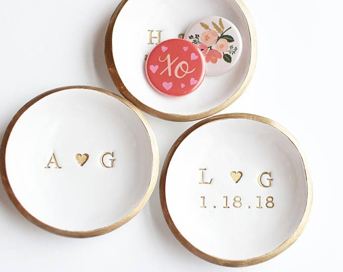 Ring Dish - These are just so precious. I like to keep a little dish by my bed for rings or necklaces and these are darling!