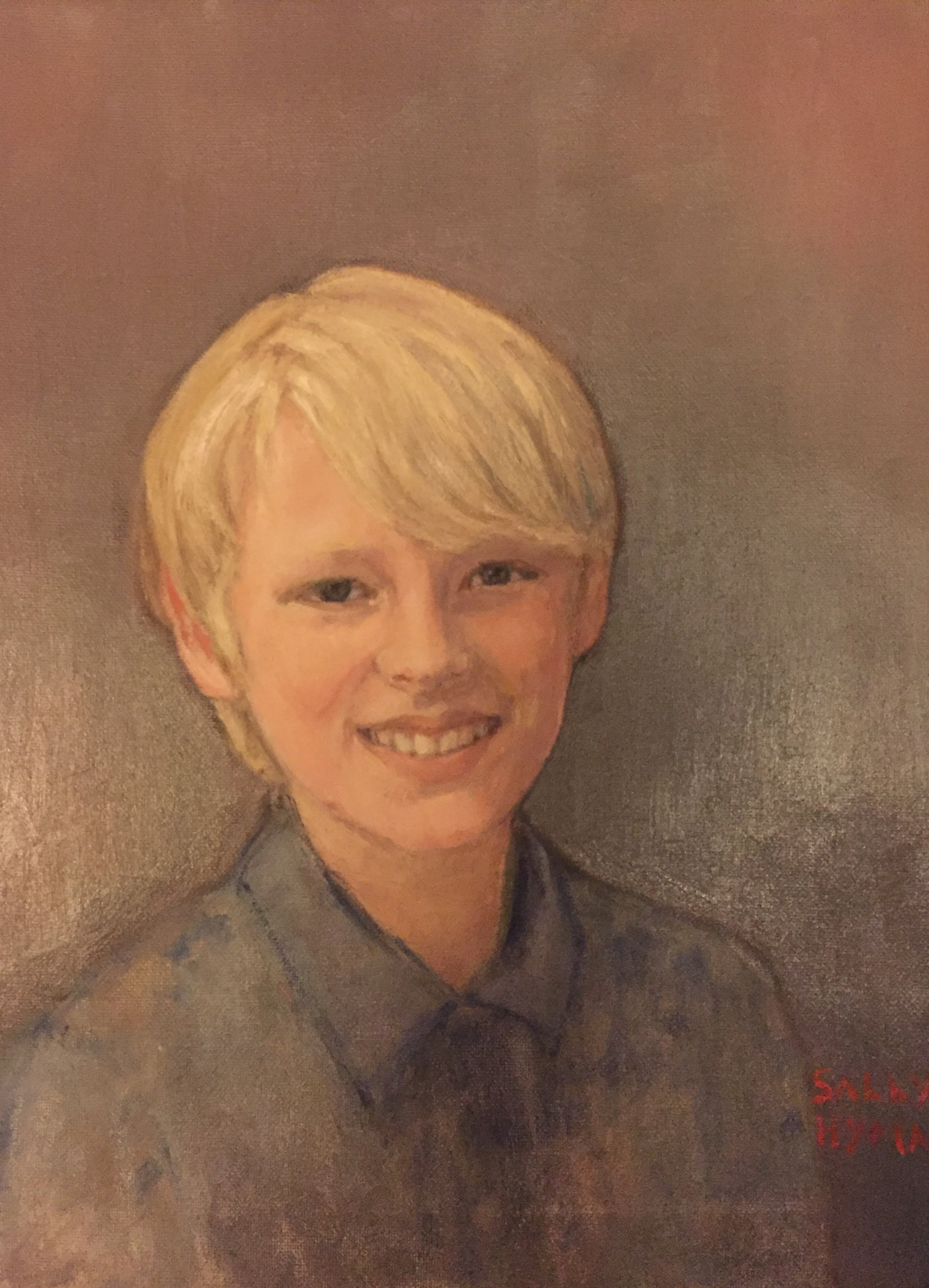 Gerald    Oil on canvas  by Sally Hyman