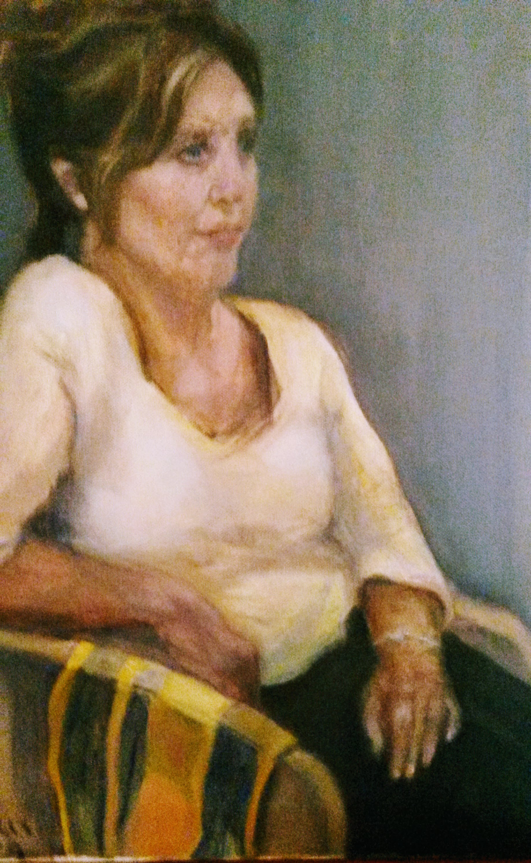 Study in Yellow and Blue    Oil on canvas  by Sally Hyman