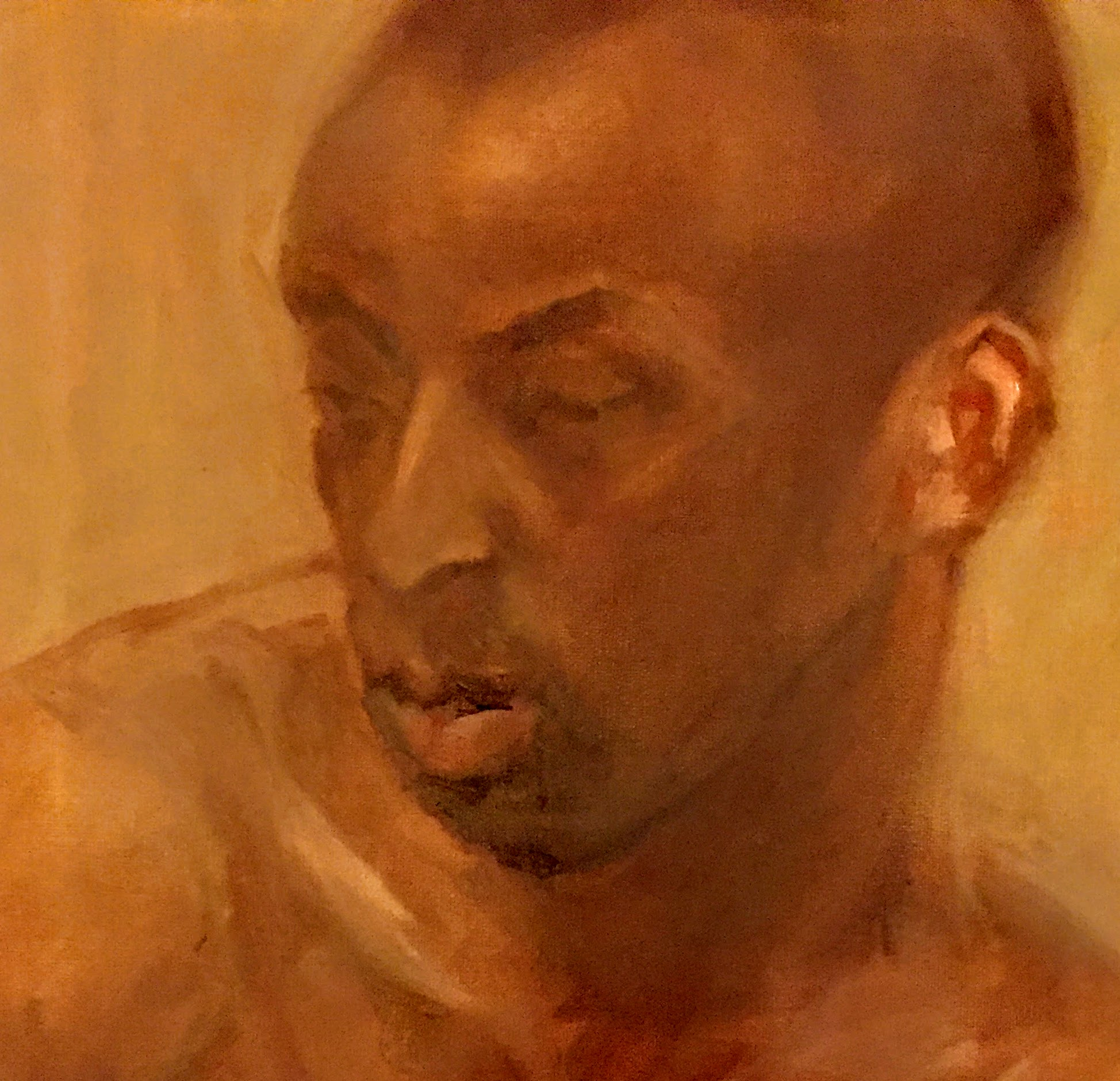 Brendon 1   Oil on canvas  by Sally Hyman
