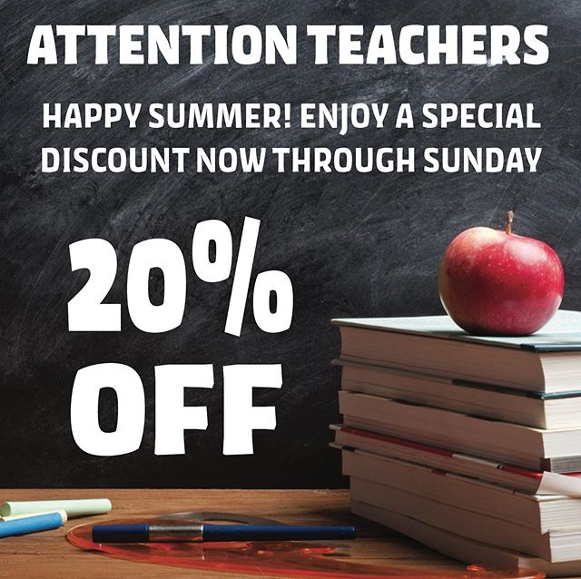 Tag a teacher you love! Bring a teacher and get 20% off for your whole group! Use promo code TEACHER20 at checkout! 🍎📚✏️ #teachers #828isgreat #experienceimmersion