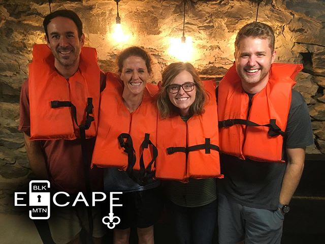 "Team ""TickTock O'clock Alternate Team Name Peckadbill"" set the July record, escaping in just 30 minutes and 46 seconds! Well done team TTOCATNP! #braggingrights #expertlevel #ussmckoy"