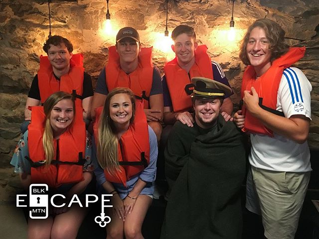 We loved hosting this staff group from the amazing @escapeartistgreenville a while back! Can you spot the sailor who fell overboard?  #ussmckoy #escapeartistgreenville