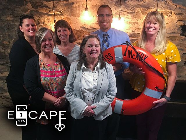 Escape rooms are a great team building opportunity for coworkers! This group from the @biltmoreestate office crushed it!  #corporate #teambuilding