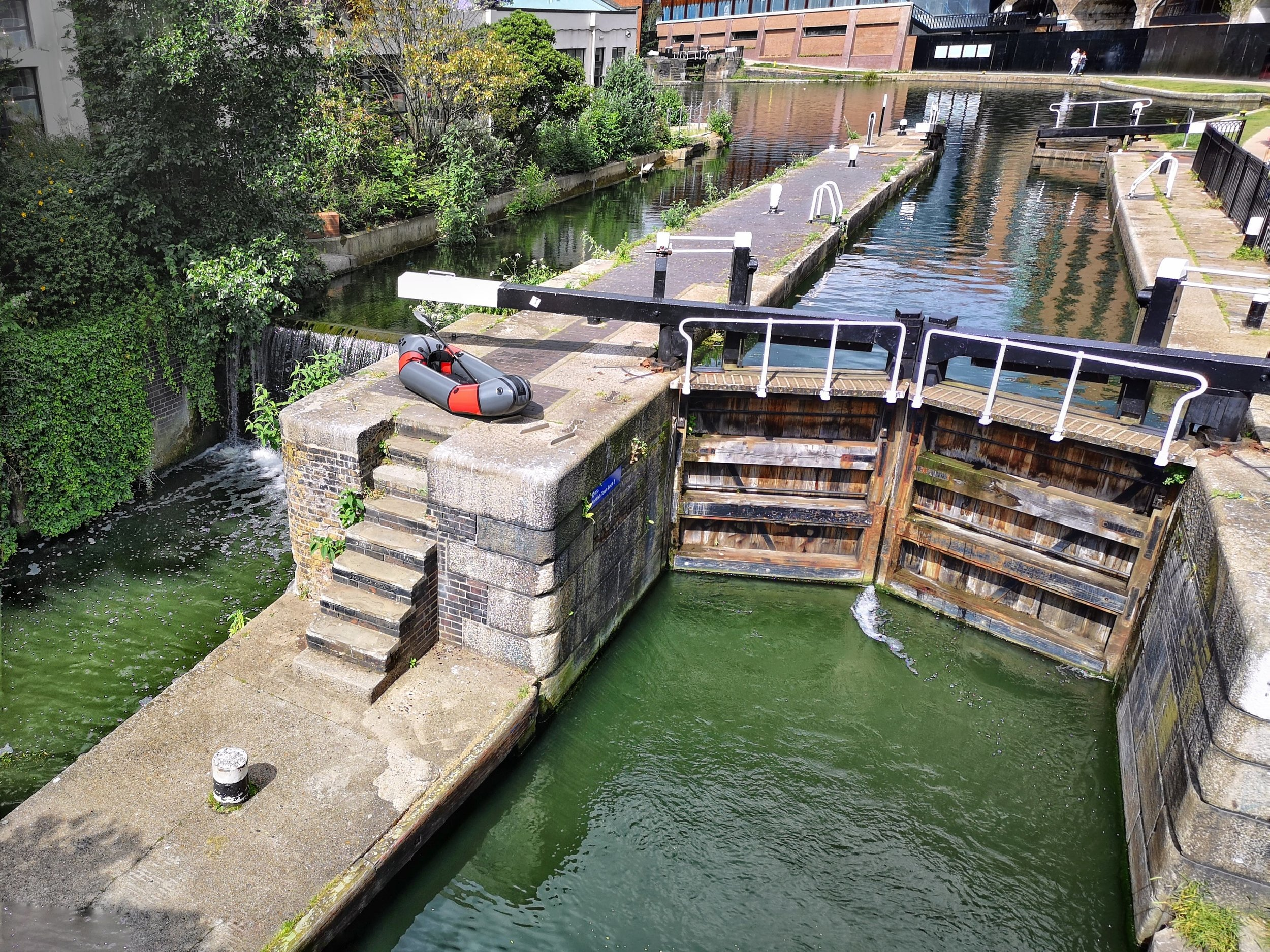 Camden has three locks within a couple of hundred meters. Kentish Town lock is the lowest and the perfect place to start your paddle. It's only minutes away from Camden Town Tube Station.
