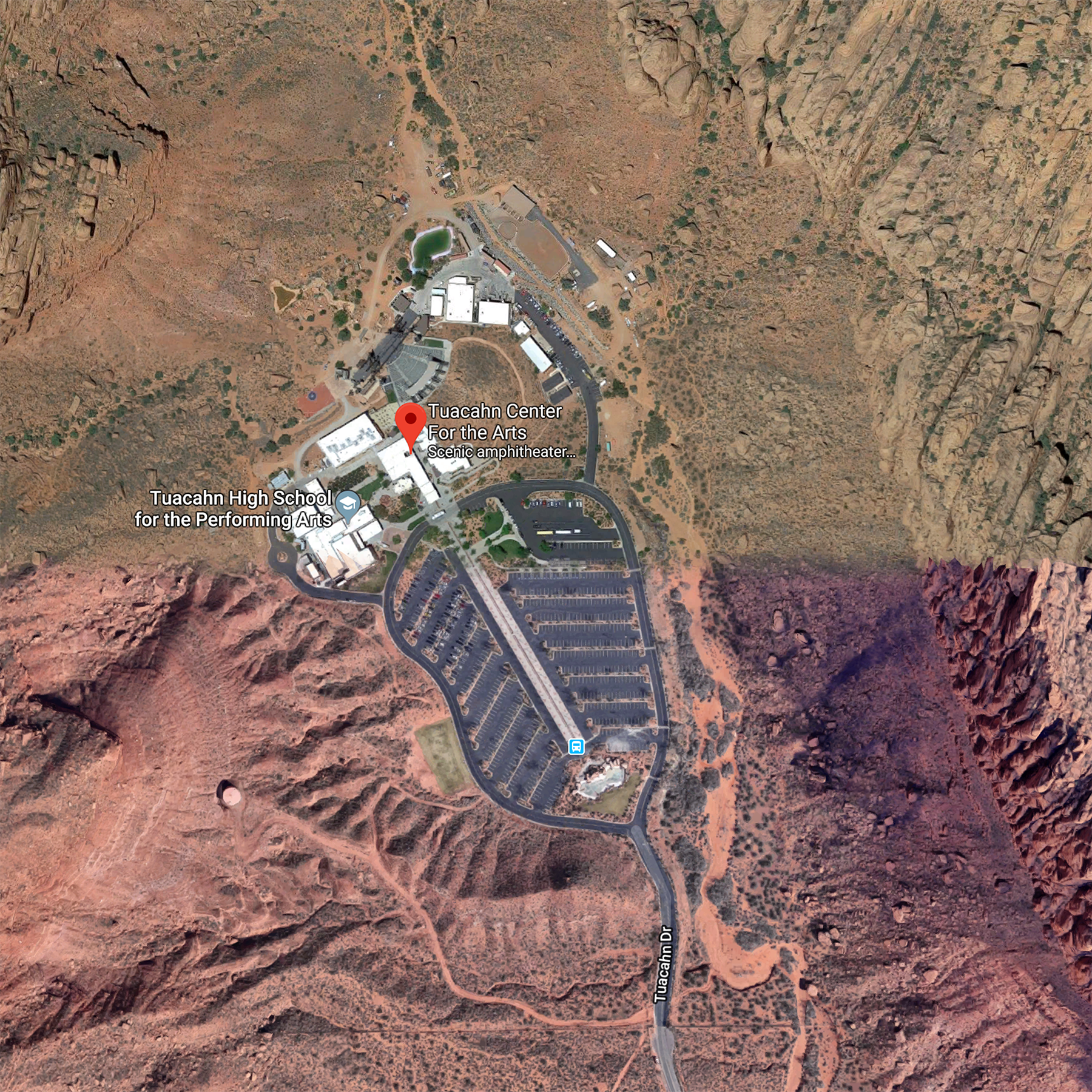 St. George (Tuacahn) From Above