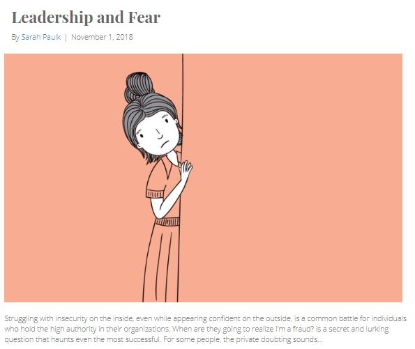 I interviewed the chief executives of multi-billion and multi-million dollar companies and asked how they dealt with fear while making decisions that could mean life or death for their organizations.