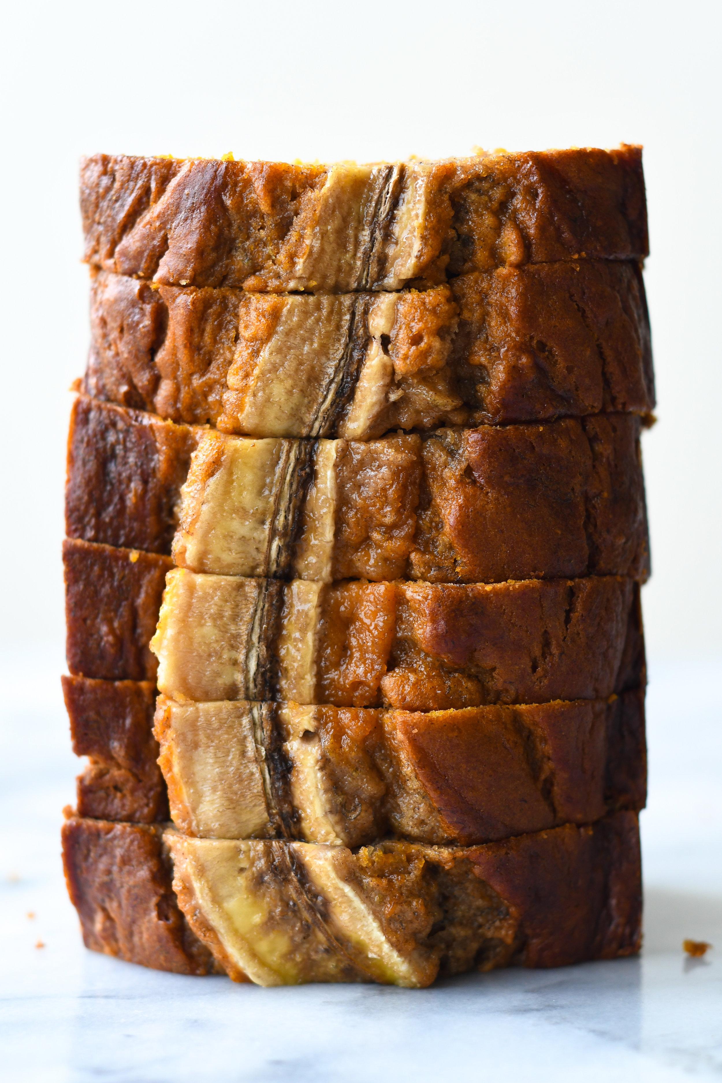 banana pumpkin swirl bread