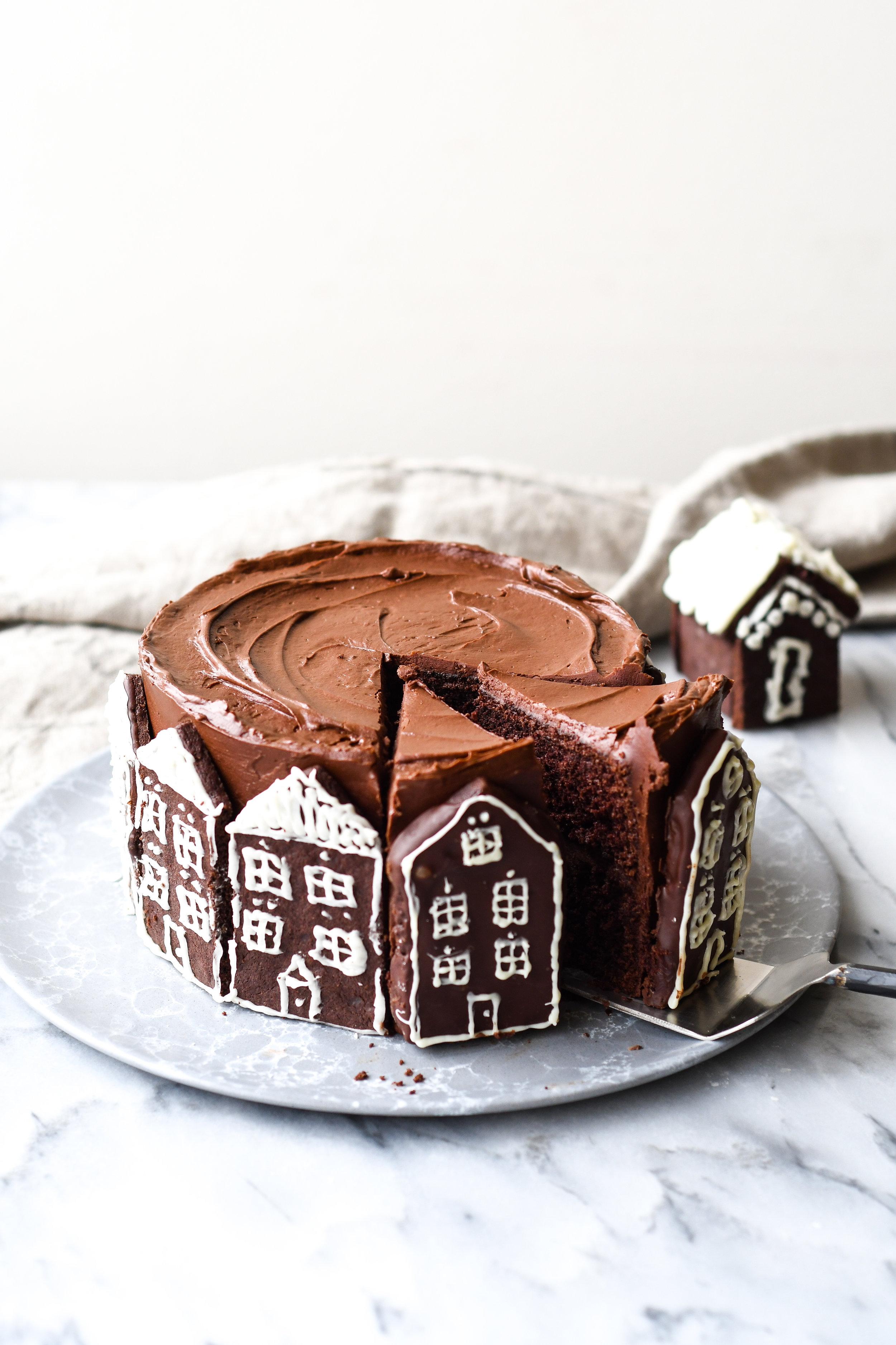 chocolate chipotle winter cake