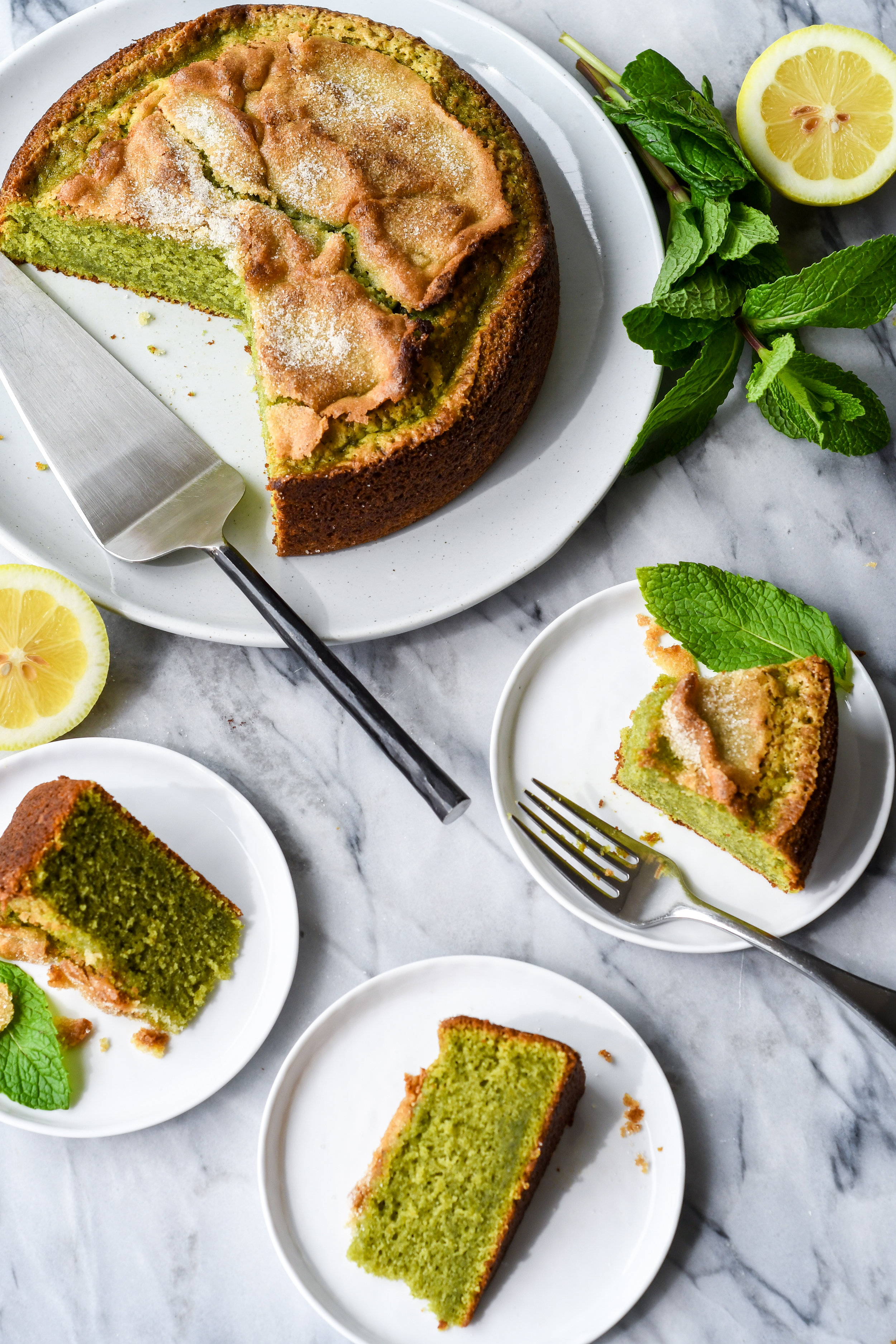 mint olive oil cake