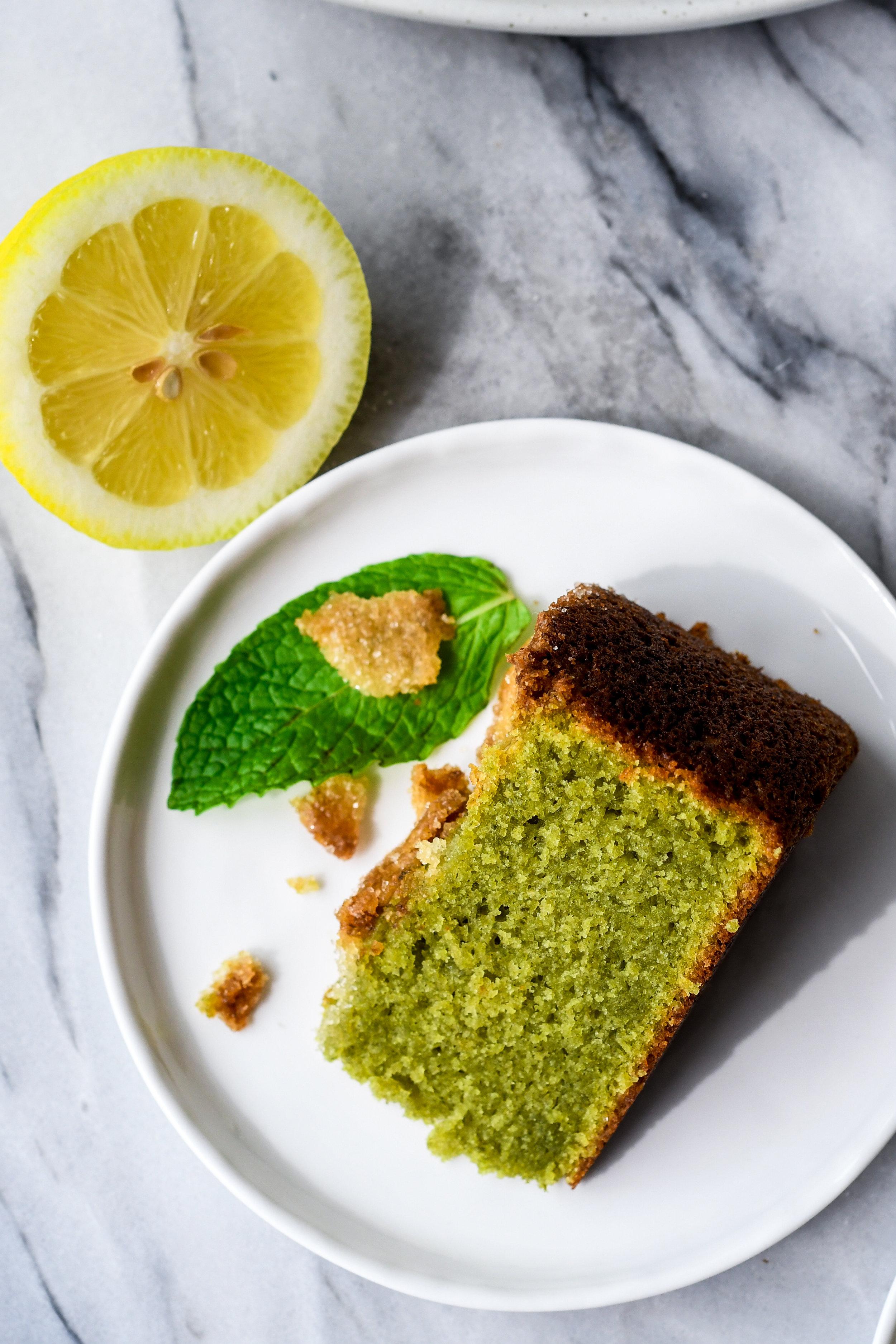 mint lemon olive oil cake