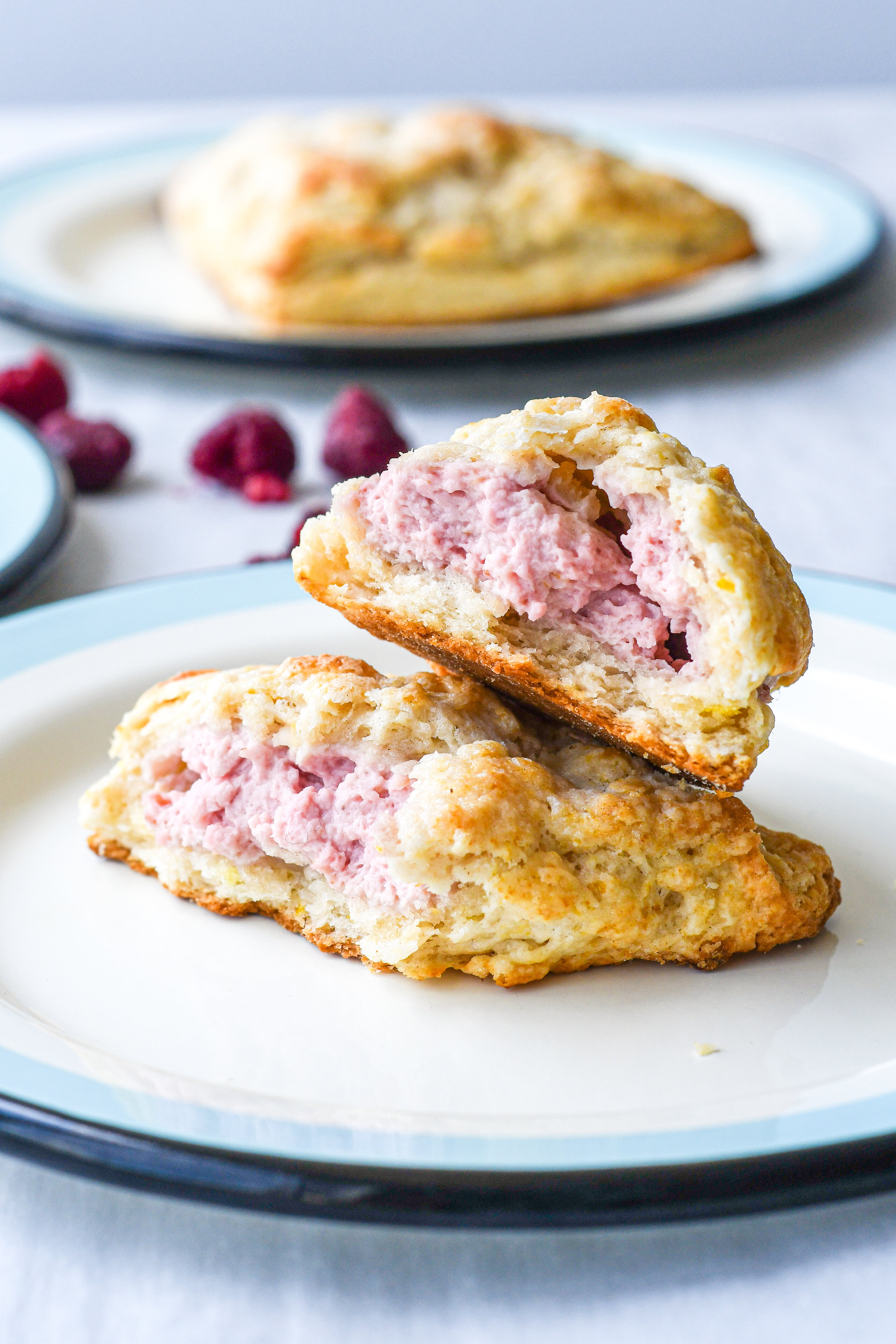 raspberry cream cheese stuffed scones