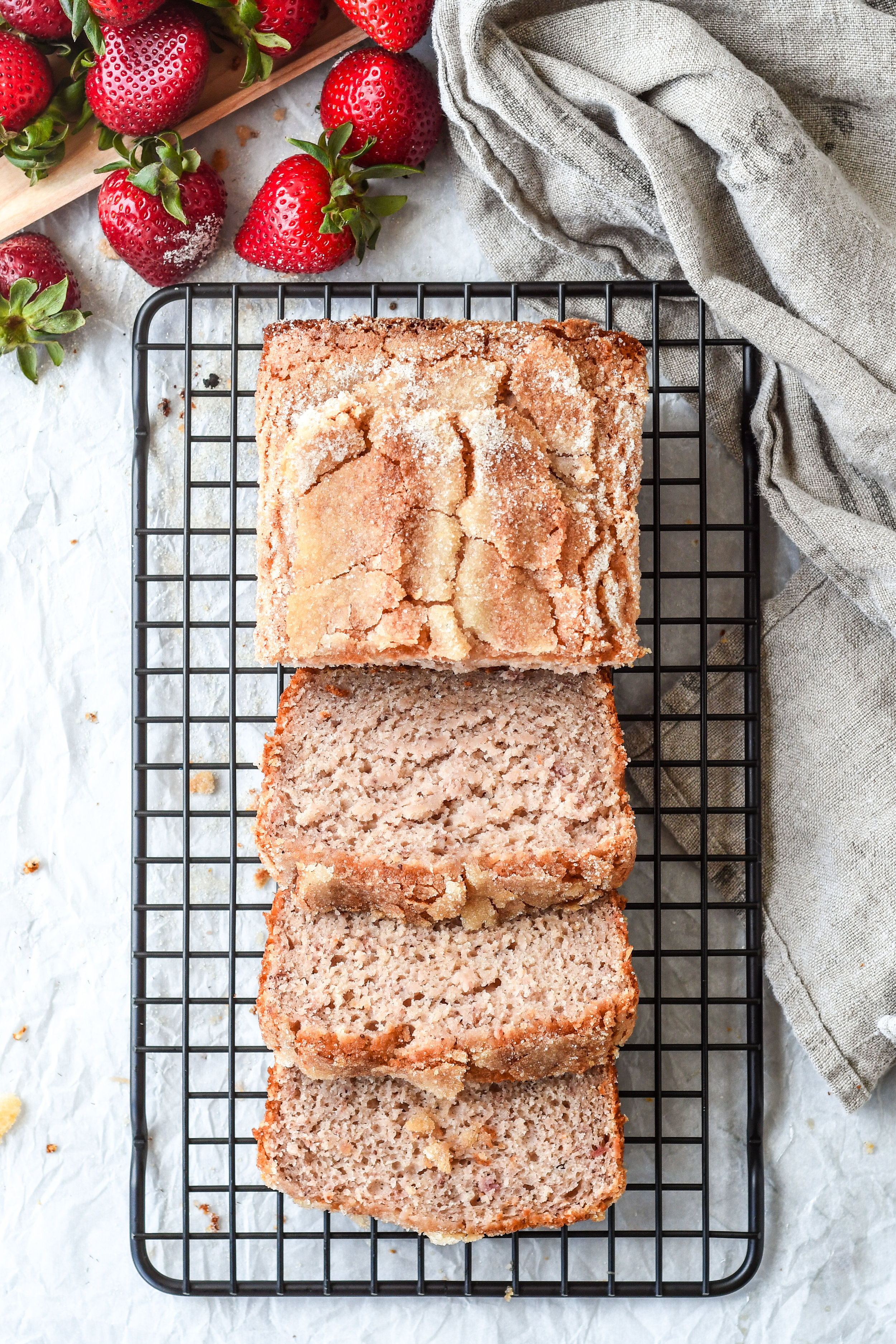 roasted strawberry bread