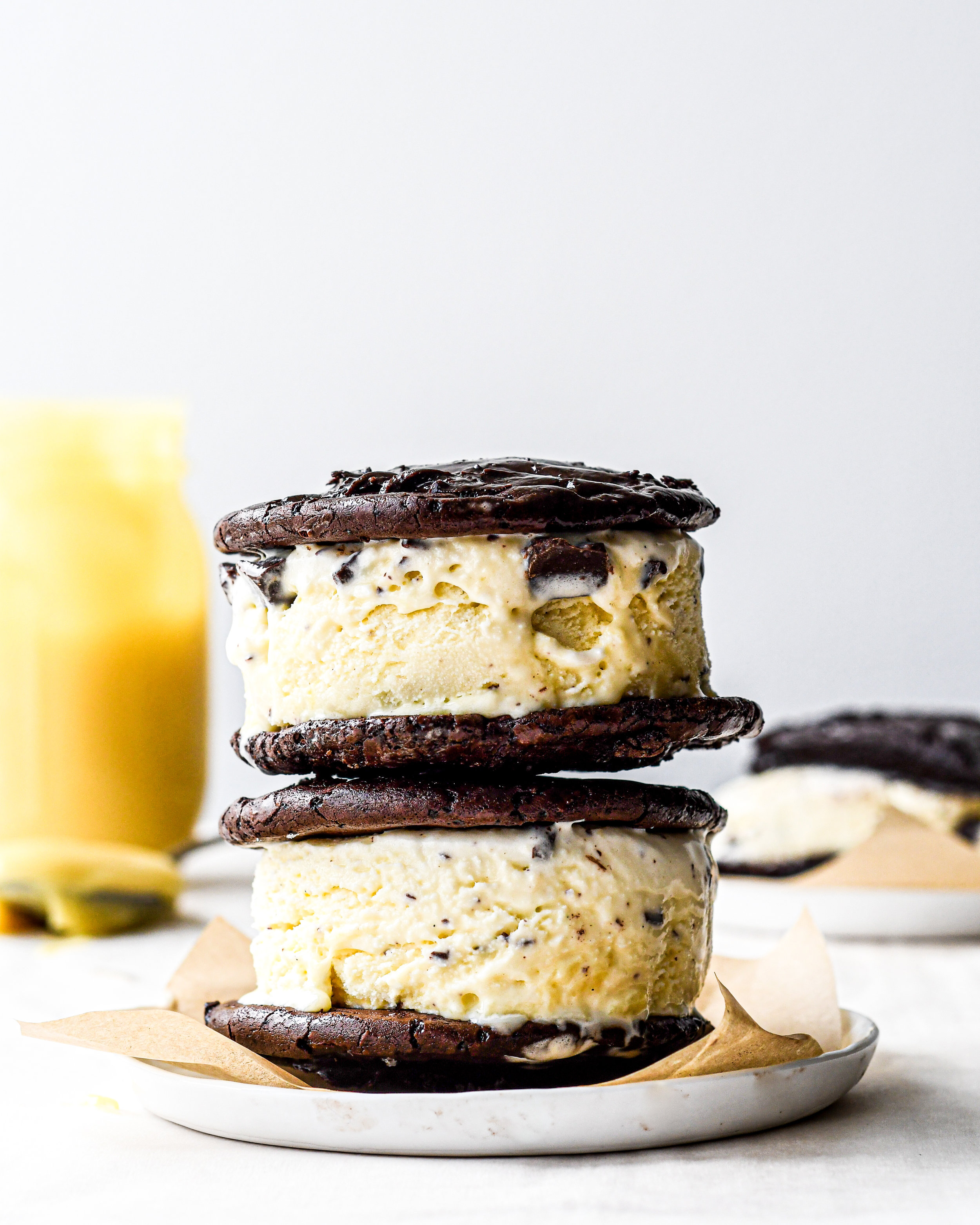brownie cookie ice cream sandwiches