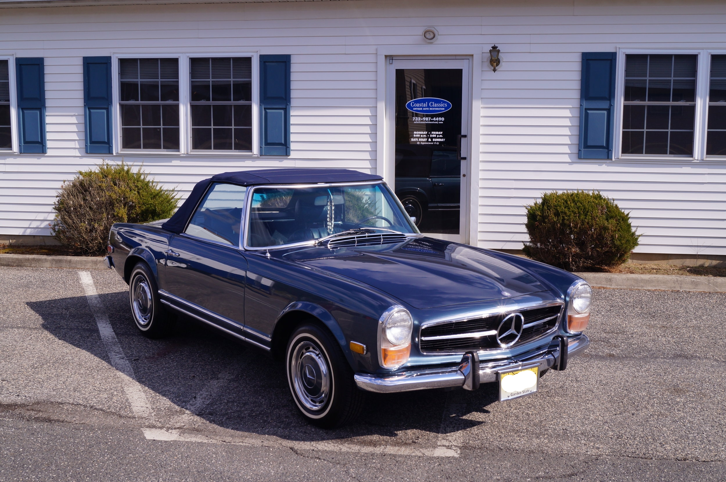 1970 Mercedes-Benz 280SL - This Mercedes is the perfect example of how our preservation services can keep a car going long after it had been seemingly forgotten. After sitting stationary for many years, time was beginning to take its toll. The paint was dull and beginning to oxidize. Spots of rust were adorning the chrome trim. The interior was, well, crusty, to put it lightly. And forget about running. The gas cap went missing some time ago, and in its place, tin foil was placed over the filler neck in attempt to stop anything from entering the fuel tank. It didn't work. Rain water got in and rotted out the tank. But this car had