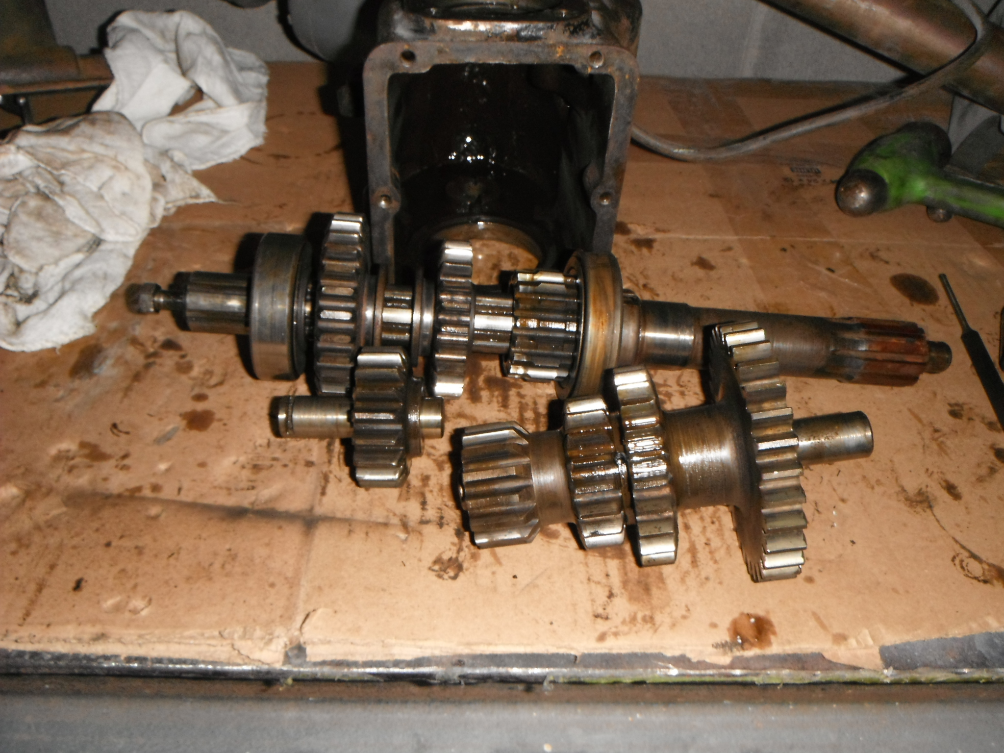 1931 Ford Model A -- Gearbox being disassembled for cleaning, inspection, and rebuild.