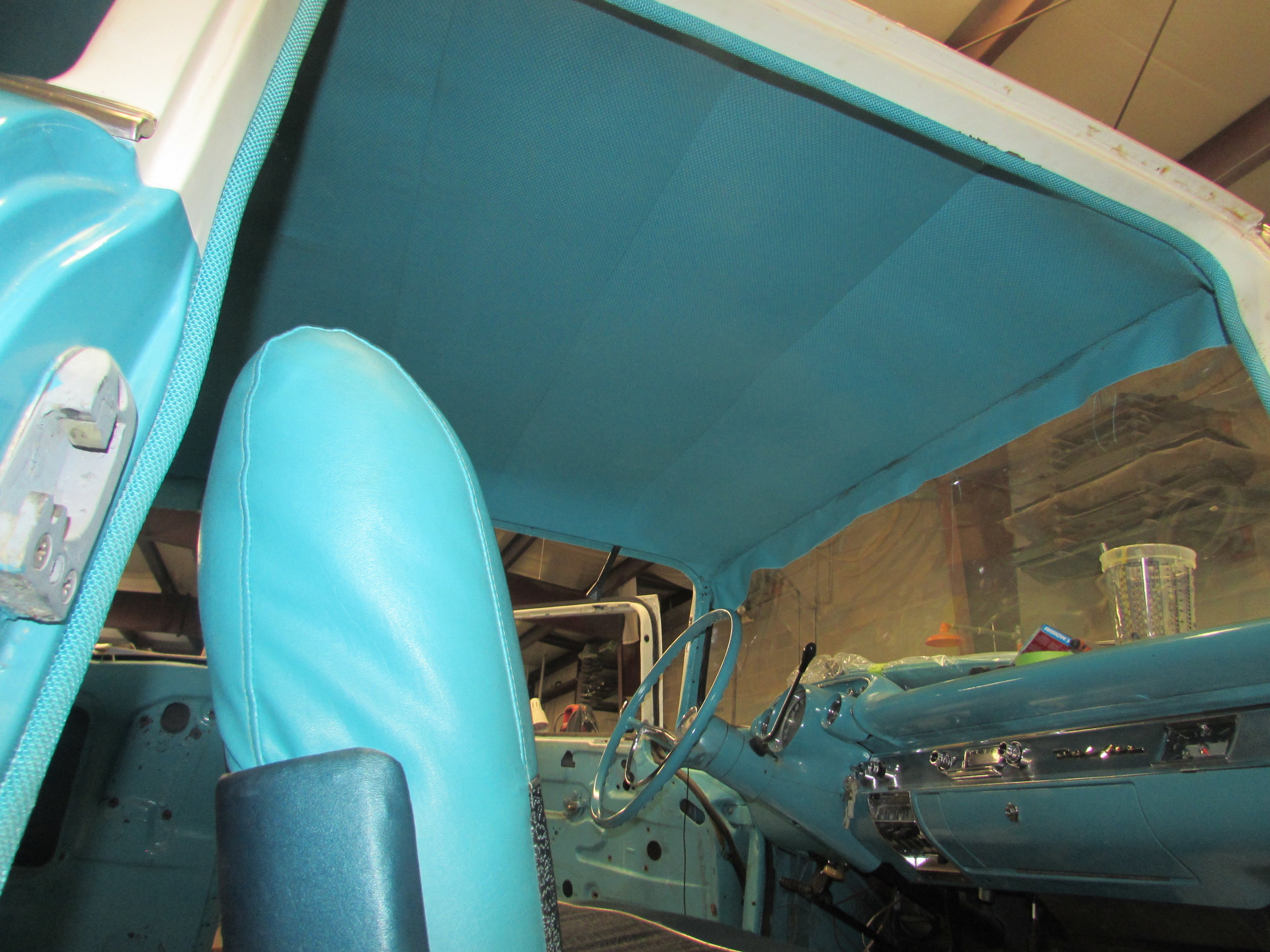 1957 Chevy Bel-Air -- Headliner Installation