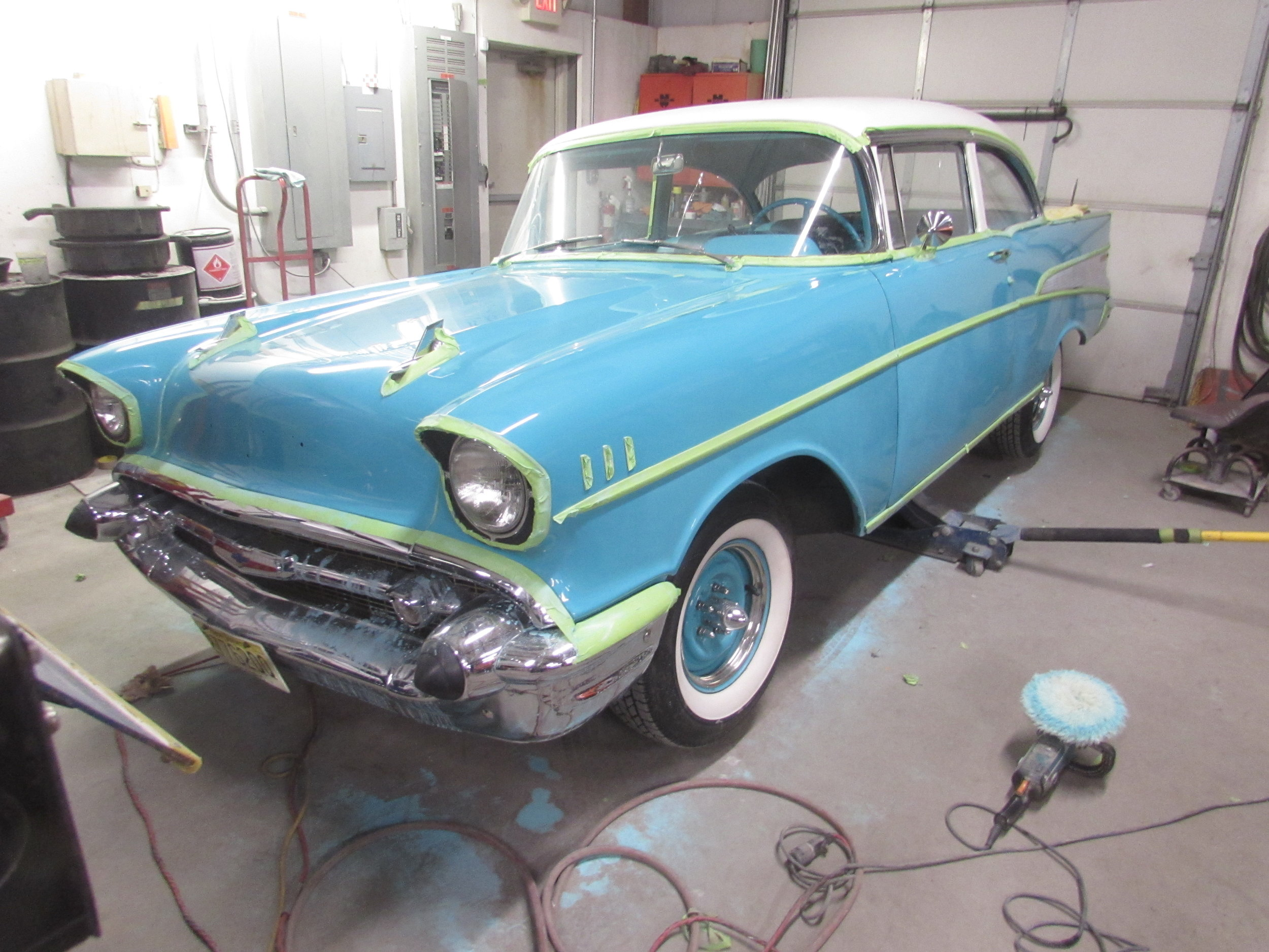 1957 Chevy Bel-Air -- Paint Preservation (Wet sanding, buffing, and polishing)