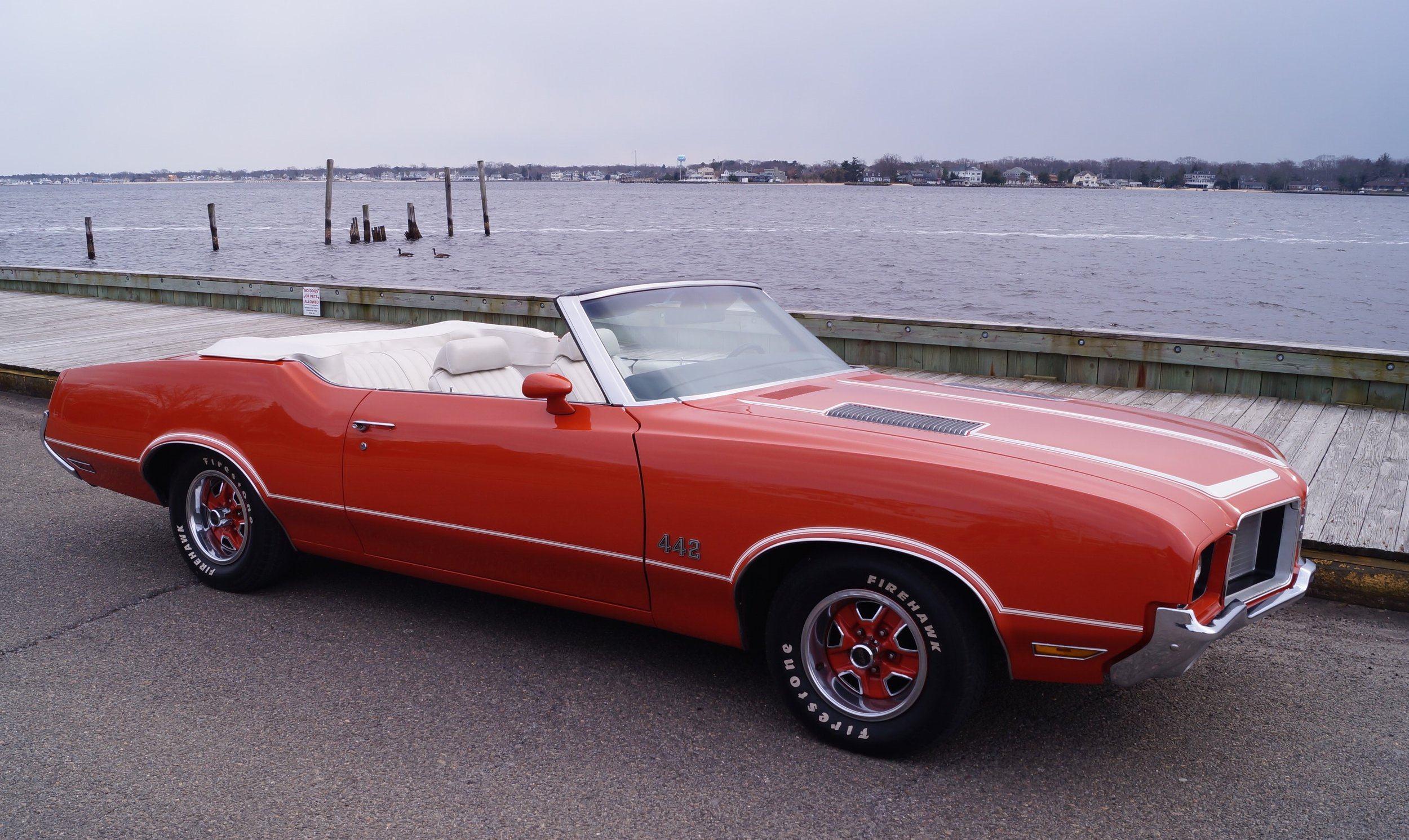 1972 Oldsmobile 4-4-2 - The one that got away... but found its way home again! Years ago, the owner made the decision to part ways with this 4-4-2. But as the years passed, like many of us, started to really miss the car and regret the decision of selling. So the search was on for another 4-4-2 to fill the void. Little did the owner know, when searching the classified ads, that they'd stumble across the very car they had sold years ago! The owner quickly snatched the car back! The Olds was then brought to Coastal Classics for a much needed new paint job and white convertible top. We have a feeling this one won't be getting away again!