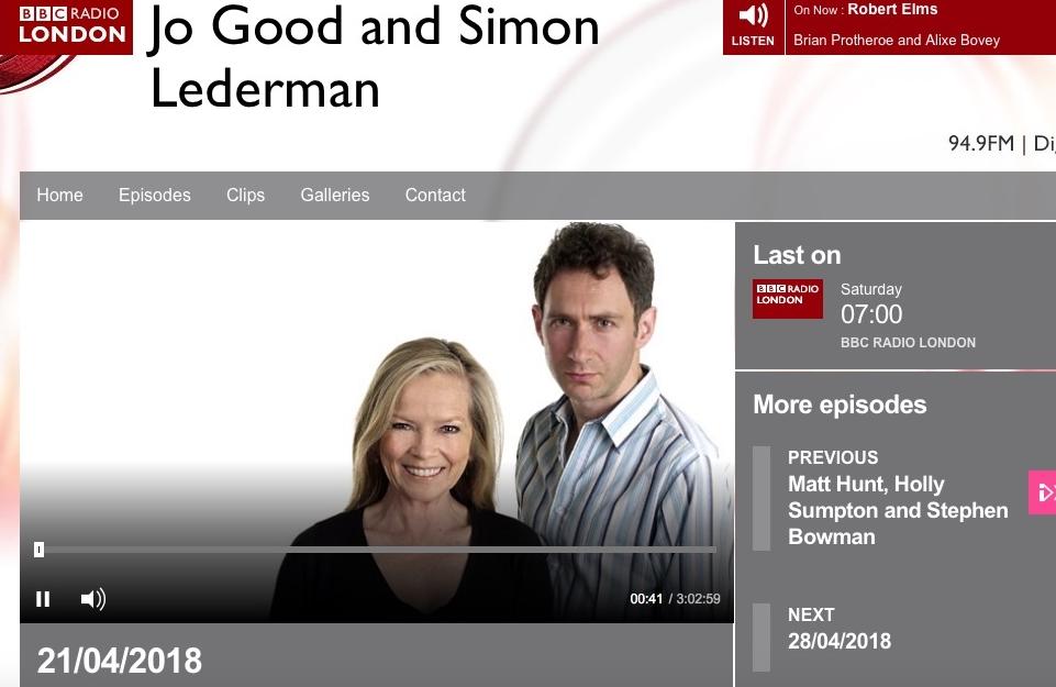 LIVE on BBC Radio London