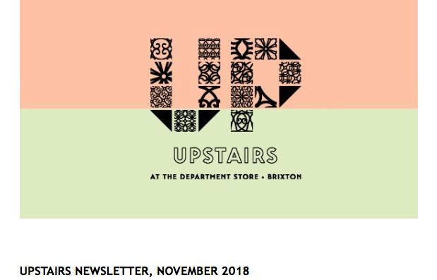 Upstairs Newsletter November 2018