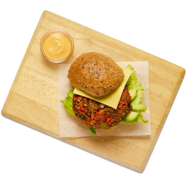 Felicity Cloake's black and broad bean burger
