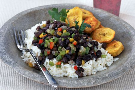 Caribbean rice and black beans
