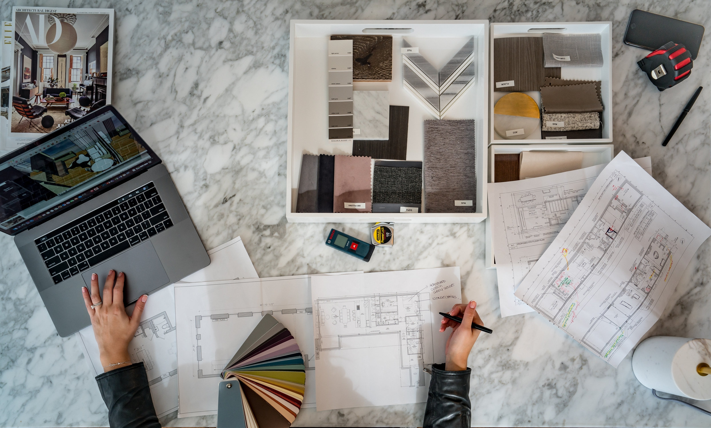 2Analyze& Evaluate - Our discovery process gives us all we need to analyze and evaluate the design possibilities for your home and create a custom proposal to meet our client's needs. All our design ideas are organized into a presentation that offers different furniture options, lighting, materials, fabrics and colors. Our 3 Dimensional Floor-plan will create a realistic feel and connect all the design elements together. It will definitely give our clients a better idea of their new apartment.