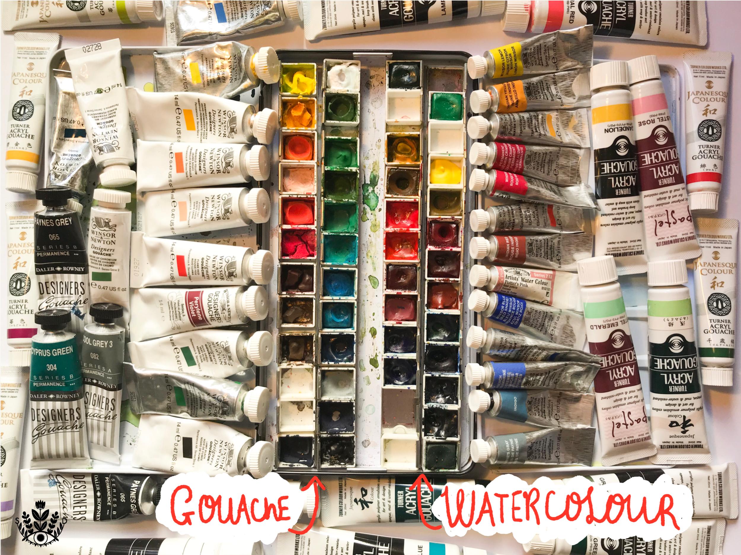 paints I use by samantha dolan