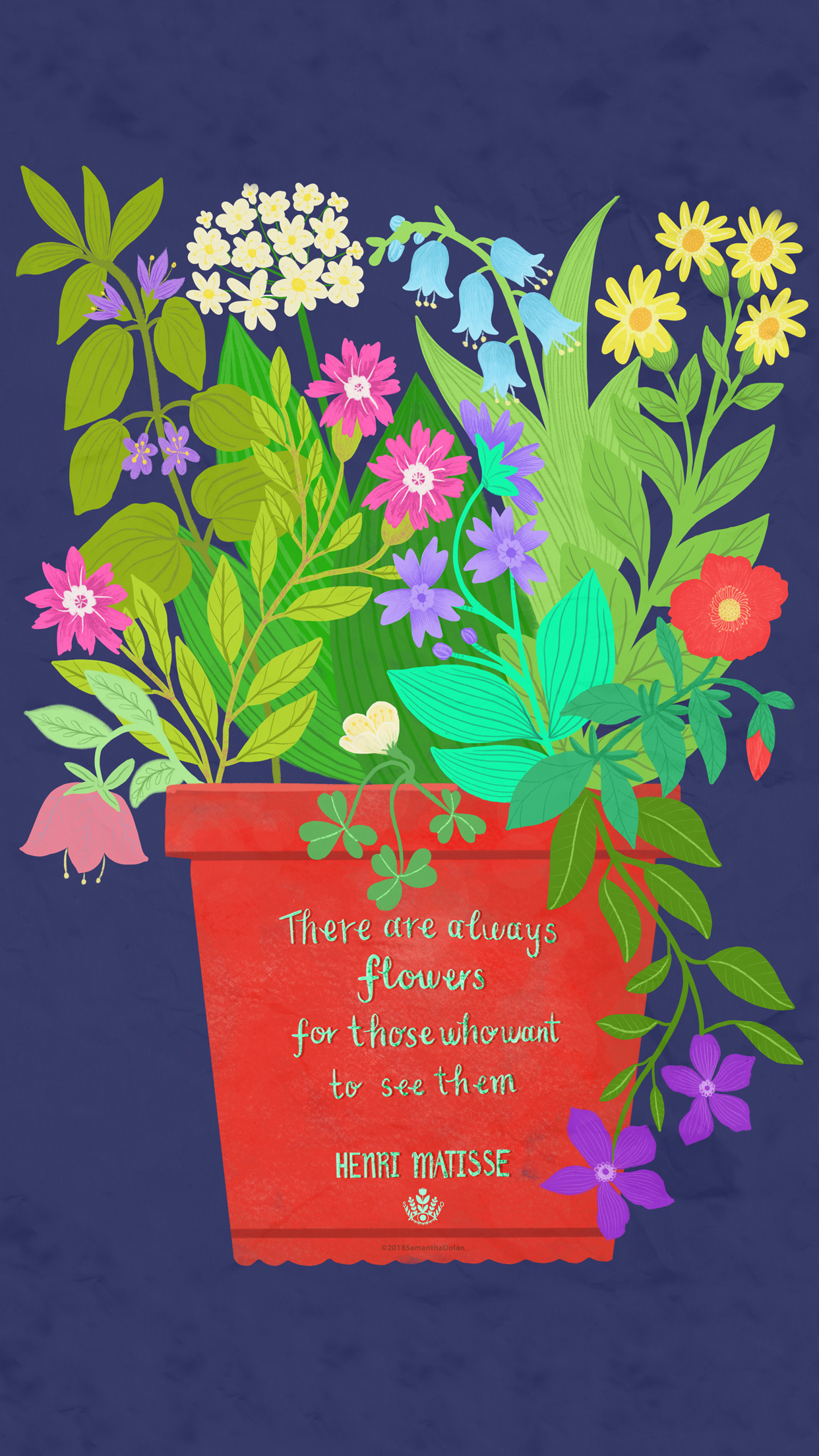 there are always flowers for those who want to see them matisse wallpaper by samantha dolan.jpg