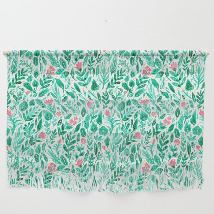 June Bloom Wall Hanging, illustrated by Samantha Dolan, available on  Society6