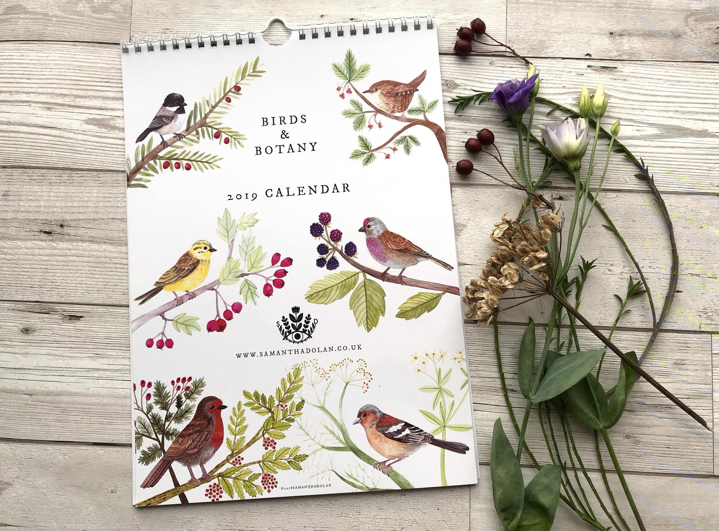 Birds and Botany 2019 Calendar