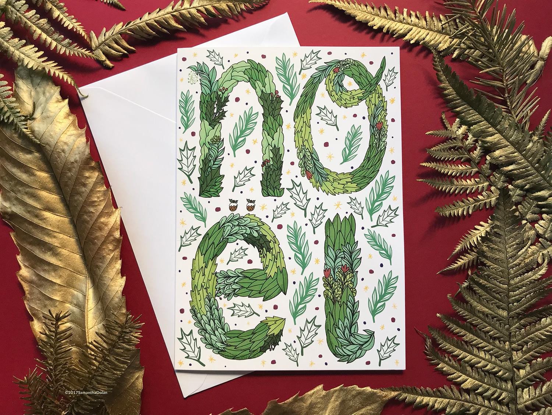 'Noel' a5 Christmas card. 2017