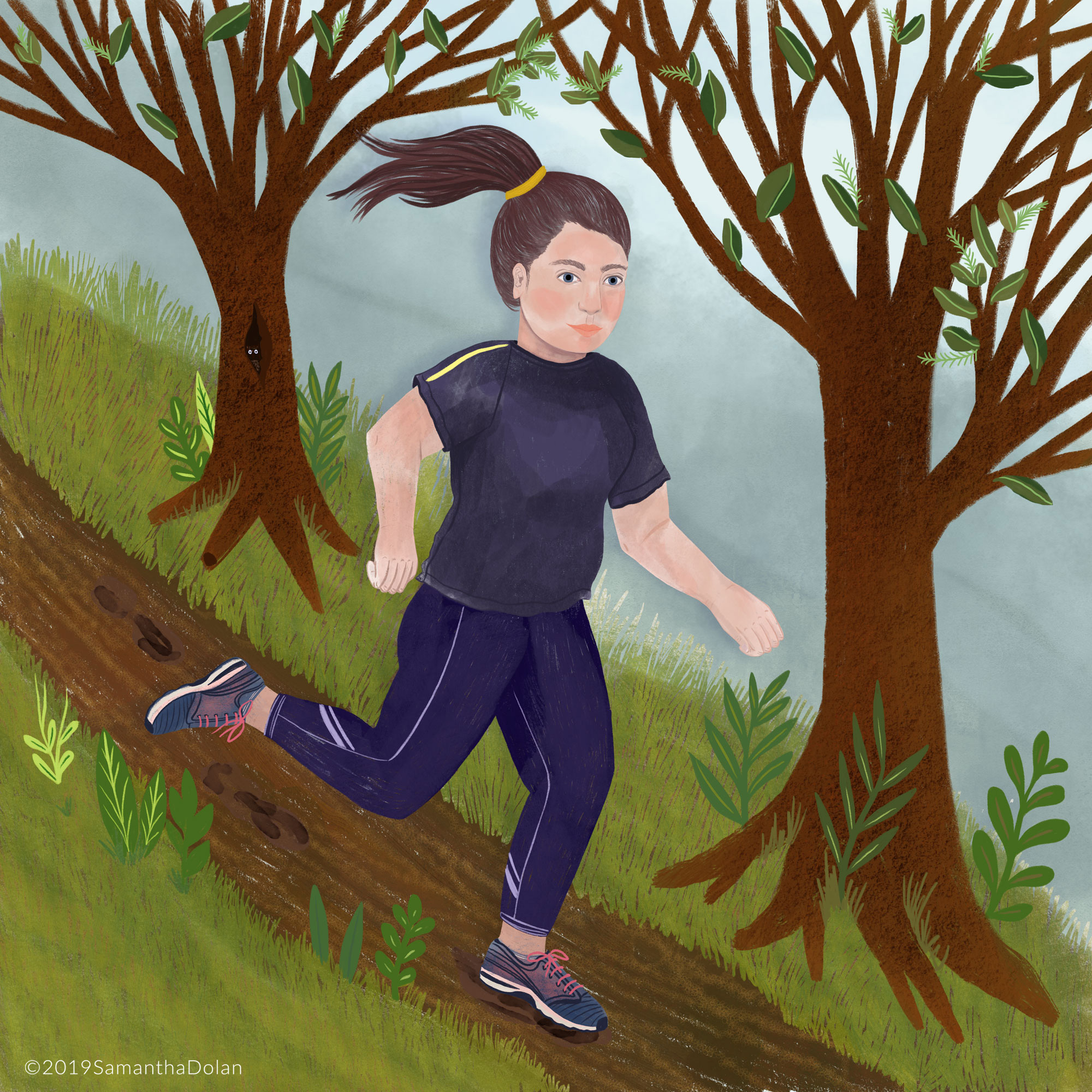 'Run, run, run!' Digital illustration, 2019