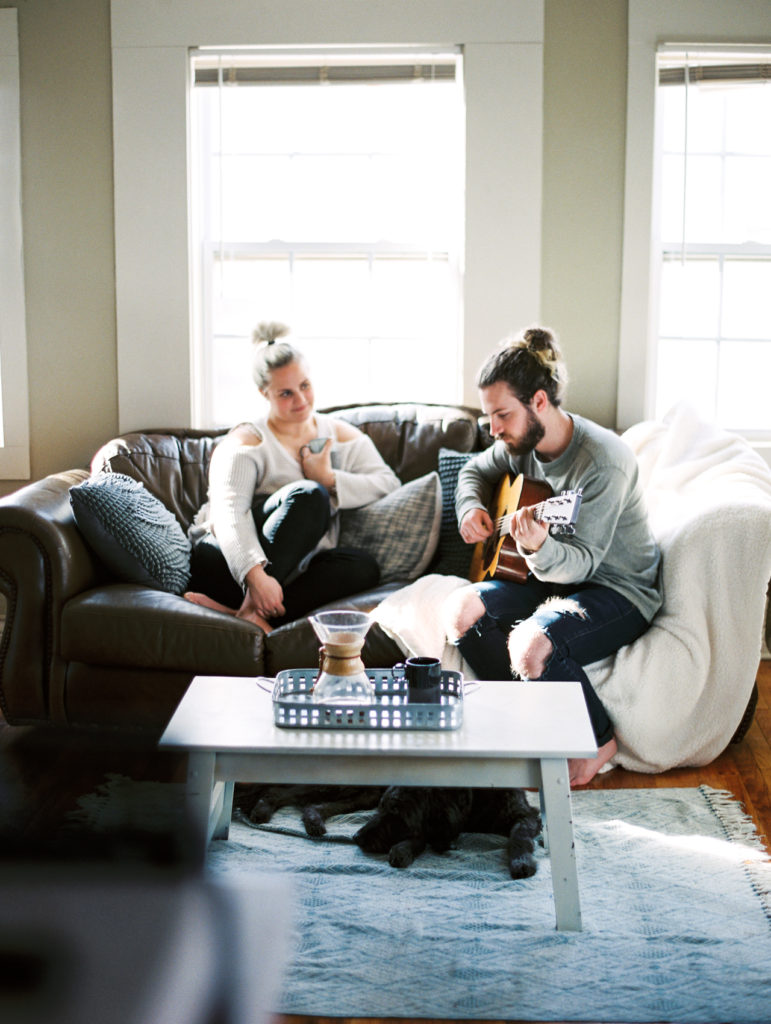 Dallas At Home Lifestyle Session Engagement