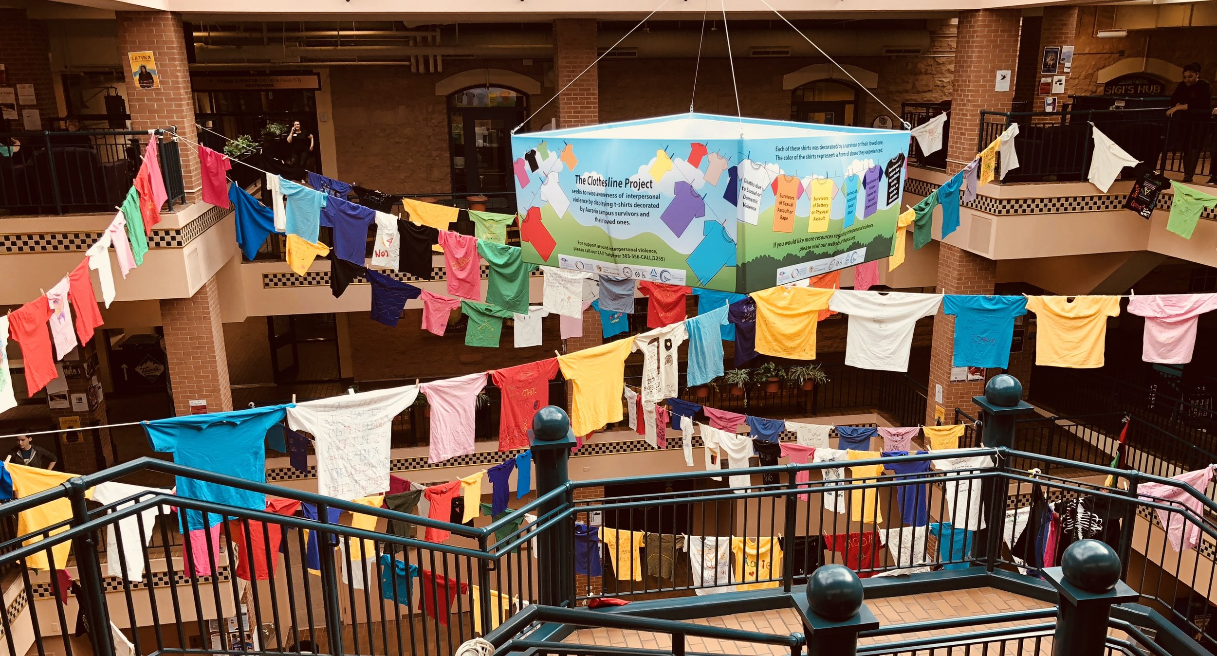 Auraria Clothesline Project in the Tivoli Student Union. 2018.