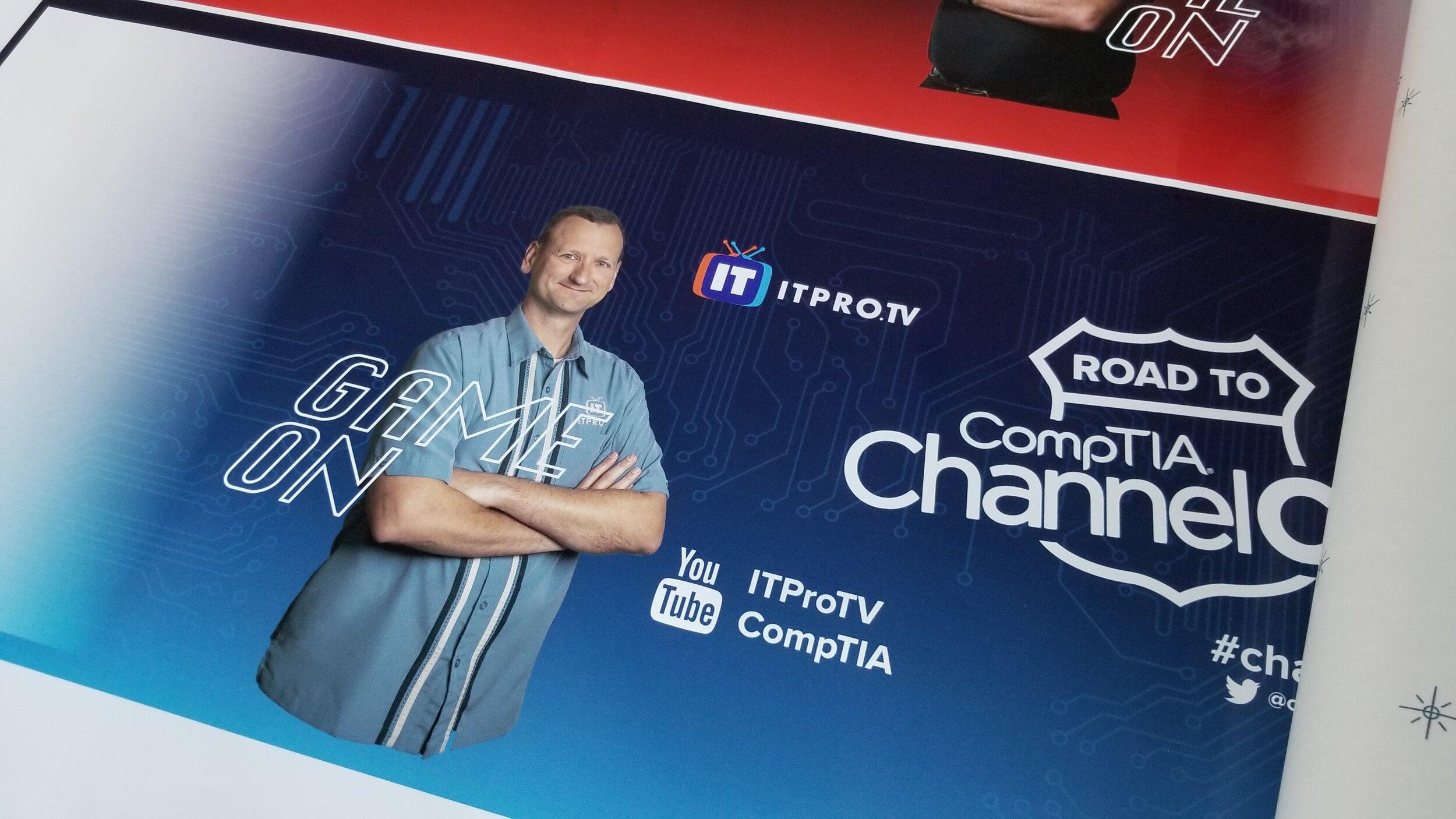 - Detail shot of the ITProTV-branded side.