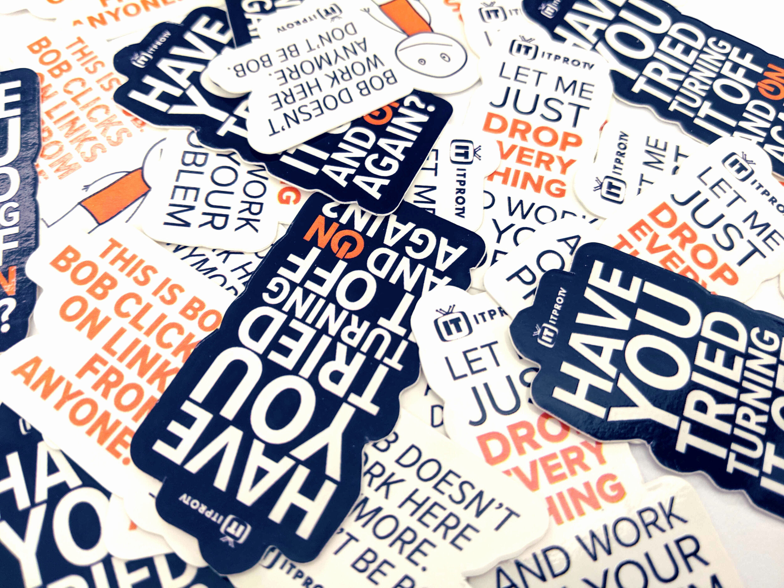 stickers - Created after the success and popularity of the Snarky Poster campaign to hand out at trade shows.