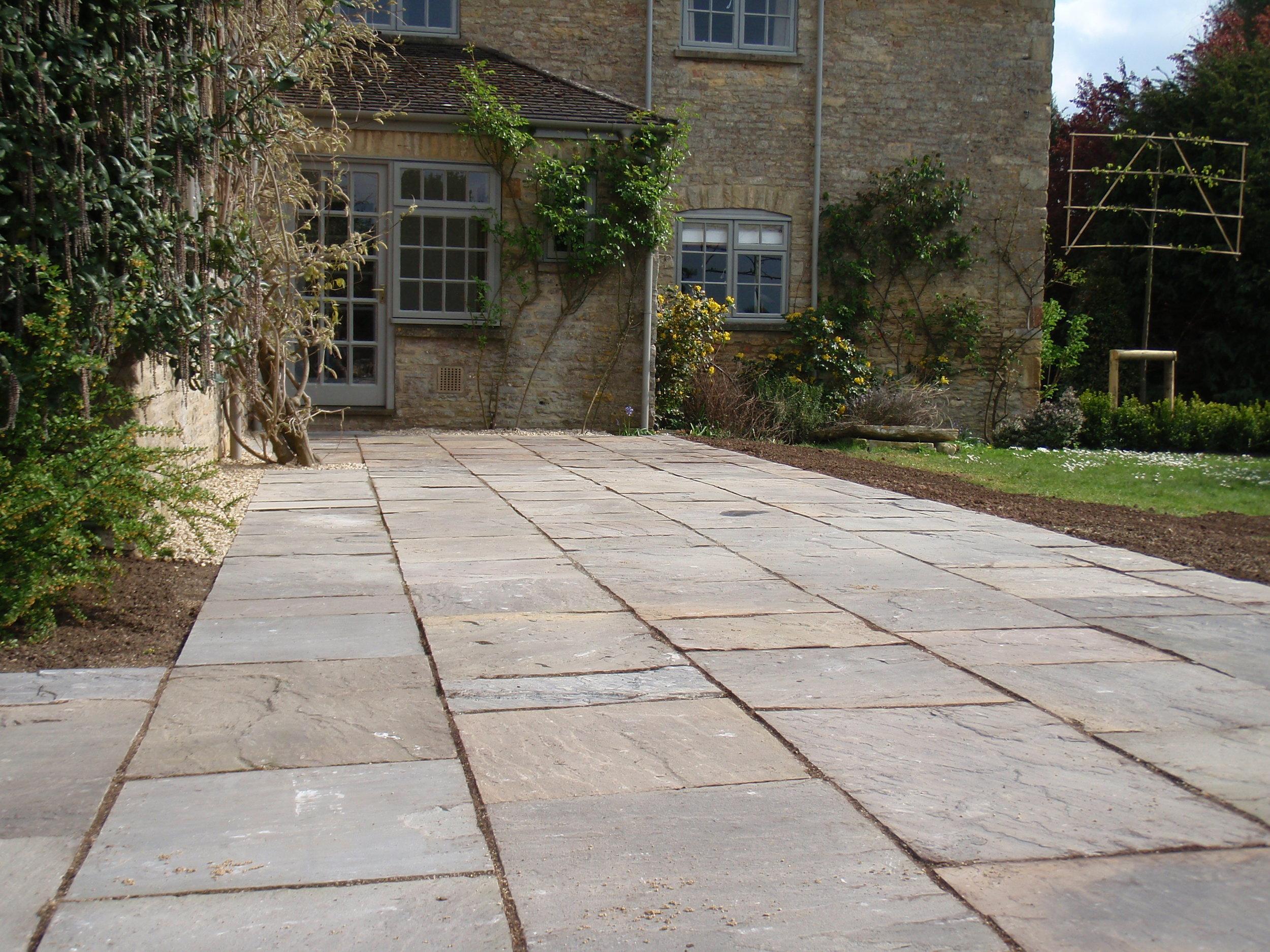 Natural stone paving - Lyneham, Gloucestershire