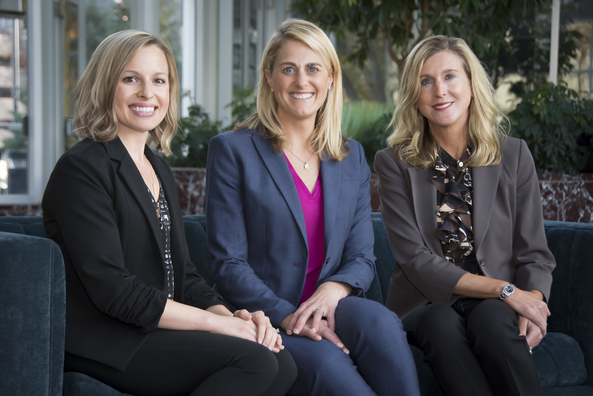 Our team of advisors: Jenna Witherbee, Jessica Ballin and Gina Buchholz