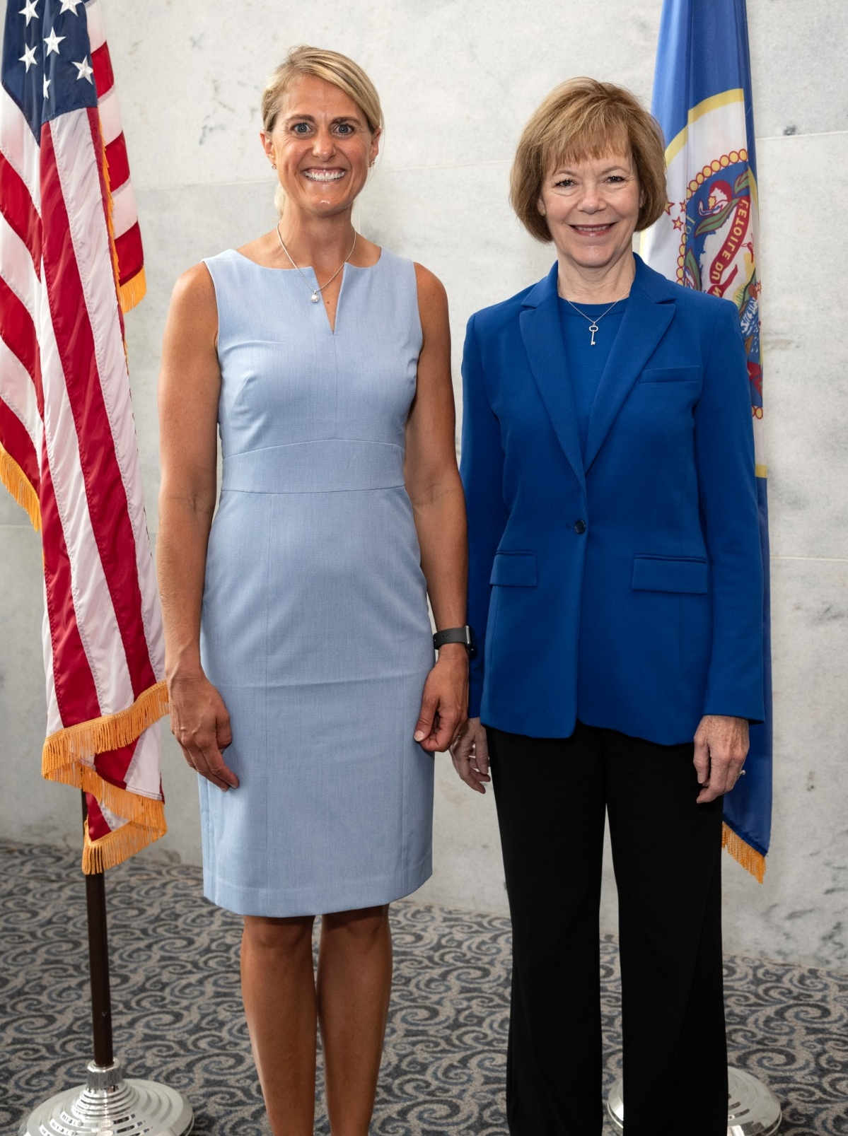 Jessica Ballin with Tina Smith, United States Senator from Minnesota