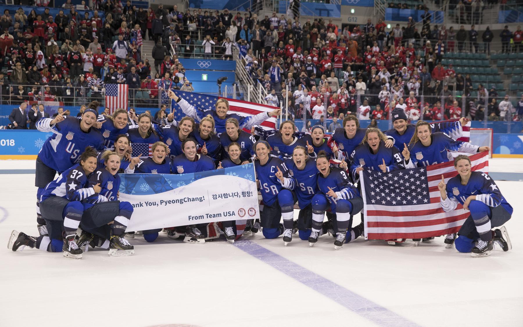 Team USA Hockey Gold Medal PyeongChang 2018.JPG