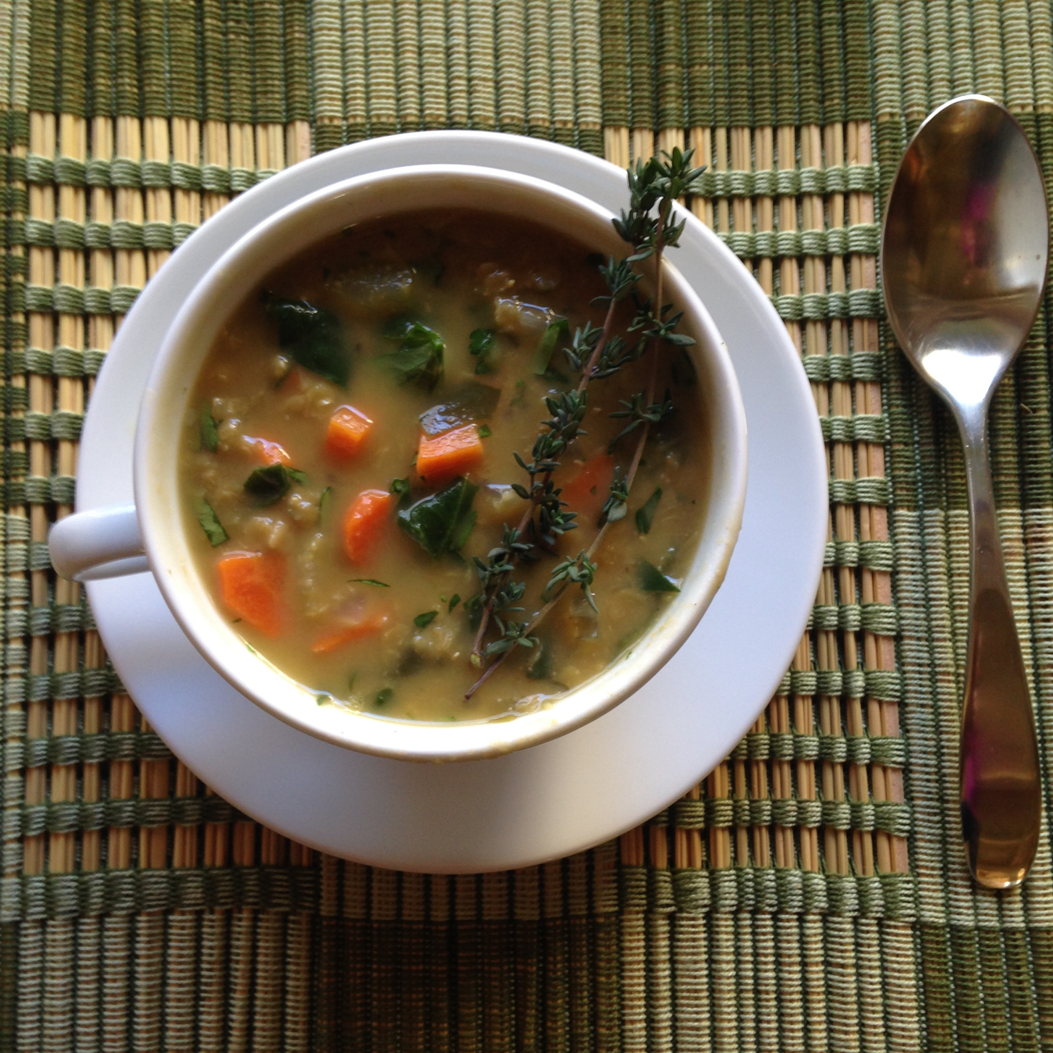 red lentil spinach