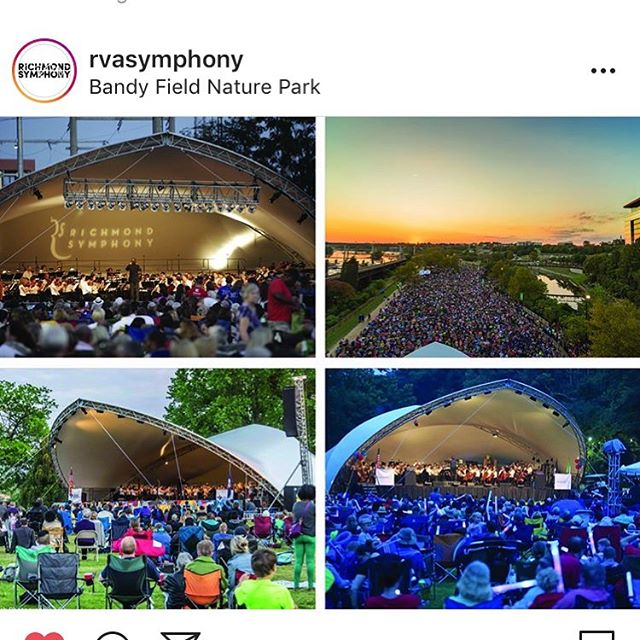Please come enjoy the fabulous @rvasymphony at Bandy Field on Three Chopt Rd. Now until 7pm! Come get the Scoop and some wonderful music.