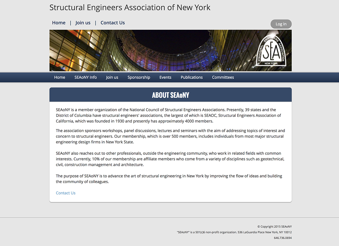 Structural Engineers Association of New York - www.seaony.org