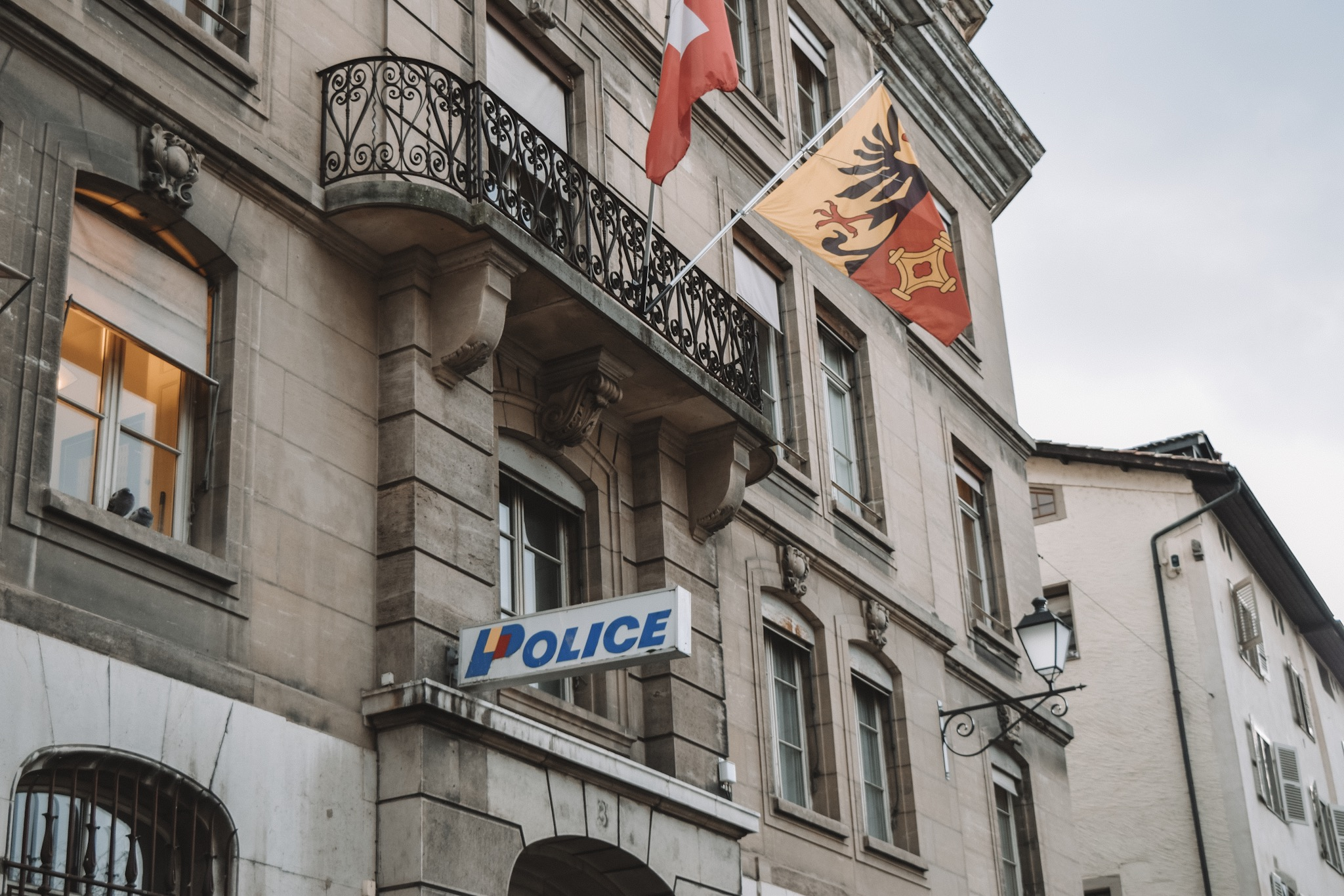 The logo for the Swiss police reminds me so much of the Playmobil I had as a kid.